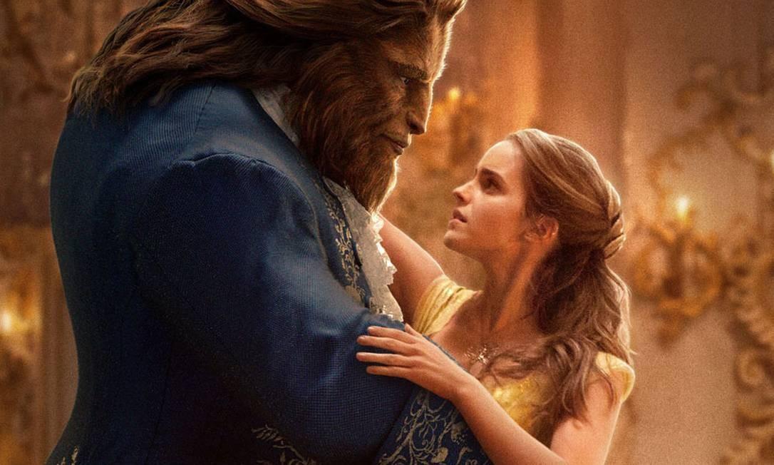 """Antes dele, a Disney já vinha investindo na tecnologia de dar vida aos personagens animados em corpos de atores, como em """"A Bela e a Fera"""", com Emma Watson como Bela Foto: Divulgação"""