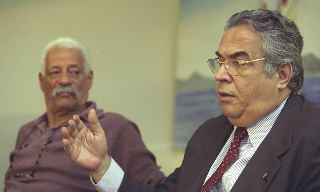 Aremithas e Eurico Miranda, em 2001 Foto: Fernando Maia / Agência O Globo