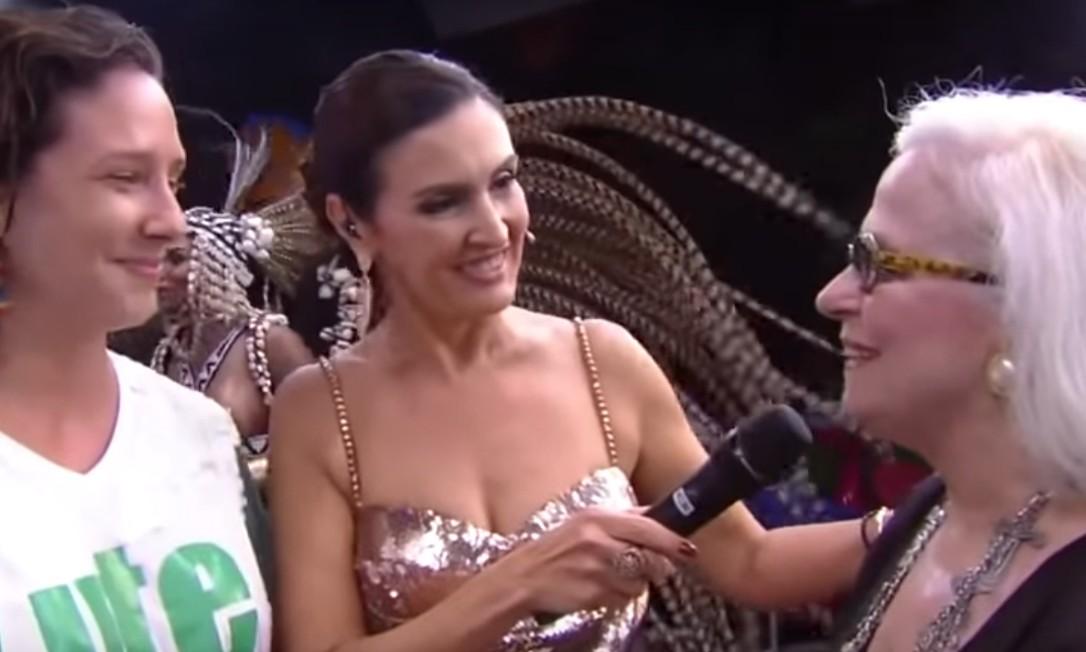 Mônica Benício e Hildegard Angel se encontram Foto: Reprodução / TV Globo