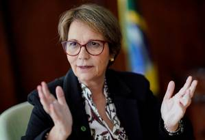 Ministra da Agricultura do Brasil, Tereza Cristina Foto: Ueslei Marcelino / REUTERS