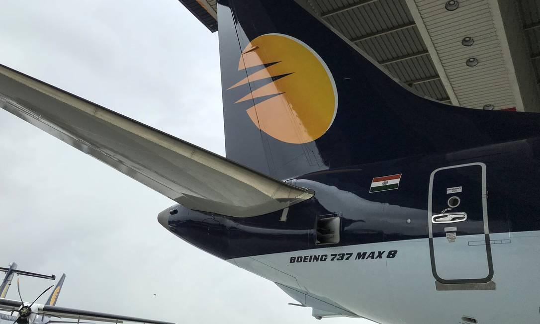 Um Boeing 737 Max 8: modelo teve dois acidentes fatais em seis meses Foto: ABHIRUP ROY / REUTERS