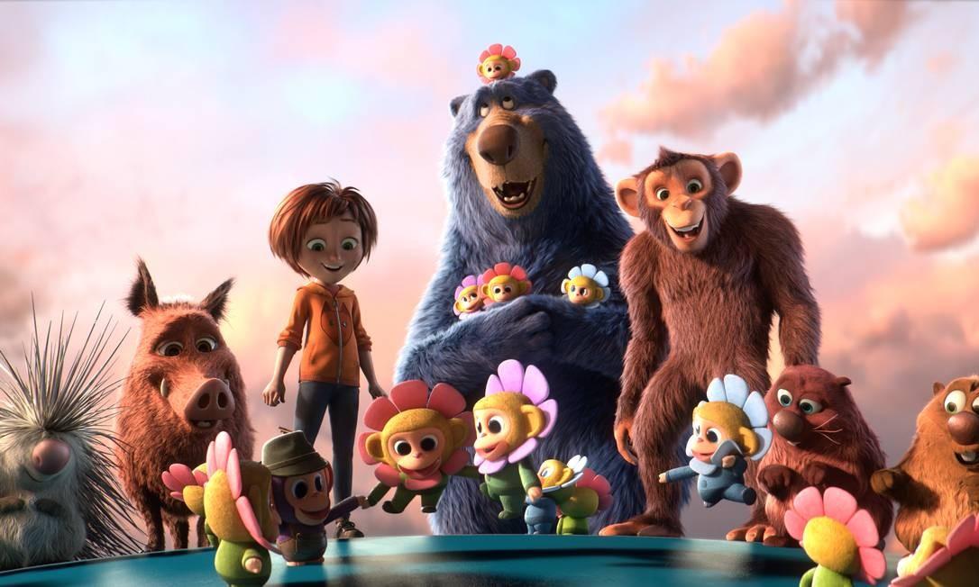 O Parque dos Sonhos. 'A aventura se passa principalmente no parque que June e seus amigos (um urso, dois castores, um porco-espinho, uma javalina e um macaco) têm de salvar dos miquinhos zumbis. O mundo fantástico toma conta do filme, mas a aproximação com o mundo real é muito bem-vinda', Simone Zuccolotto Foto: Paramount Animatio / Divulgação
