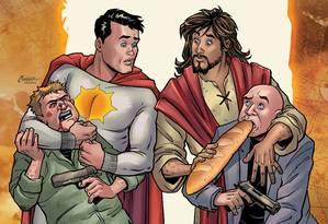 Capa da revista em quadrinhos 'Second coming' Foto: AHOY COMICS / NYT