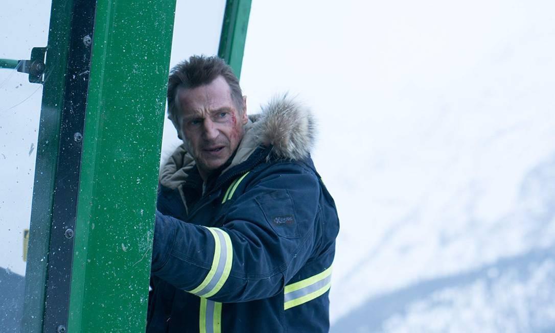 """Vingança a sangue frio. 'Remake do norueguês """"O cidadão do ano"""", que disputou o Urso de Ouro em Berlim. Hans Petter Moland também assina o novo longa, que funciona porque o diretor reforçou o humor negro do original. Vale também a ida ao cinema porque Liam Neeson anunciou que seria seu último filme de ação', Mario Abbade Foto: Divulgação"""