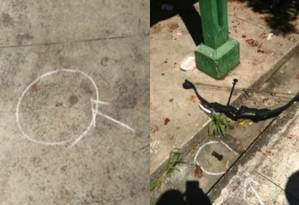 Fotos de projétil calibre 38 e de arco e flecha que atiradores utilizaram em escola em Suzano (SP) Foto: Reprodução