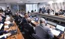Sessão da Comissão de Constituição e (CCJ) realizada nesta quarta-feira Foto: Geraldo Magela/Agência Senado