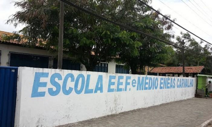 Escola Enéas Carvalho em João Pessoa, na Paraíba Foto: Reprodução