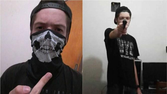 Fotos publicadas por Guilherme Taucci Monteiro, antes de sair para o massacre Foto: Reprodução