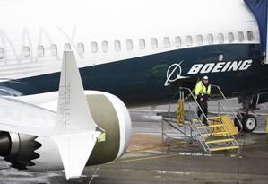 Boeing 737 MAX, nos EUA Foto: JASON REDMOND / AFP