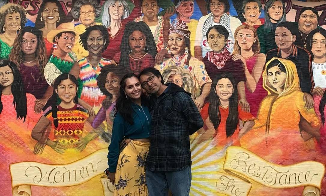 São Francisco, EUA. Obra de outubro de 2018, por Lucía Gonzalez Ippolito com assistência de outras artistas. Instagram @cialuart Foto: Reprodução