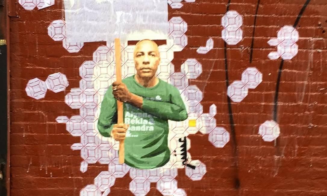Nova Iorque, EUA. Obra de julho de 2018, por Blanco Цагаан com Joao Lampreia. Instagram @blanco_tsagaan e @lampreia Foto: Reprodução
