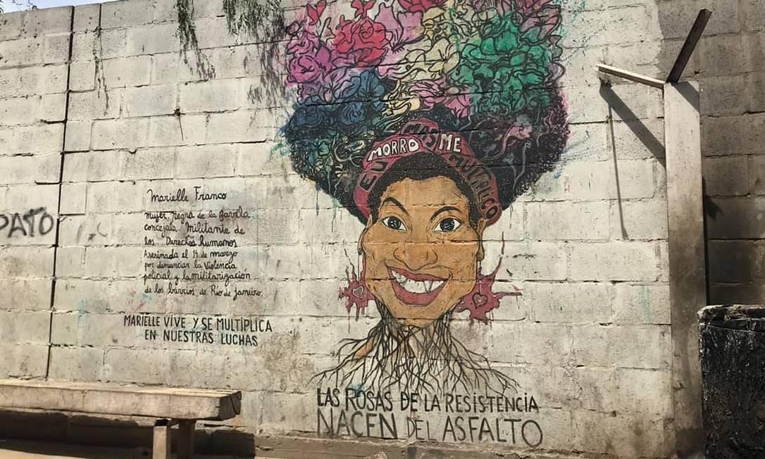 Buenos Aires, Argentina. Obra de novembro de 2018, por Ñande Kuera Haitema. Instagram @ahoranosotras Foto: Reprodução
