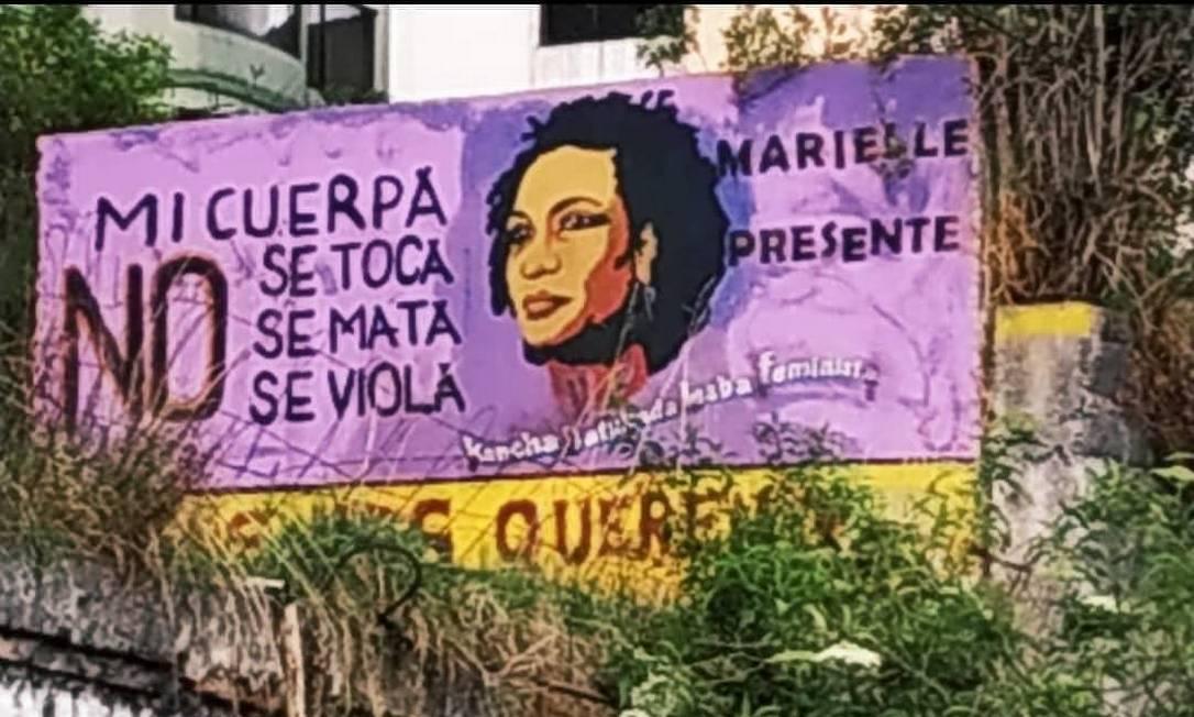 Murais recordam causas e trajetória de Marielle Foto: Reproduç~ão