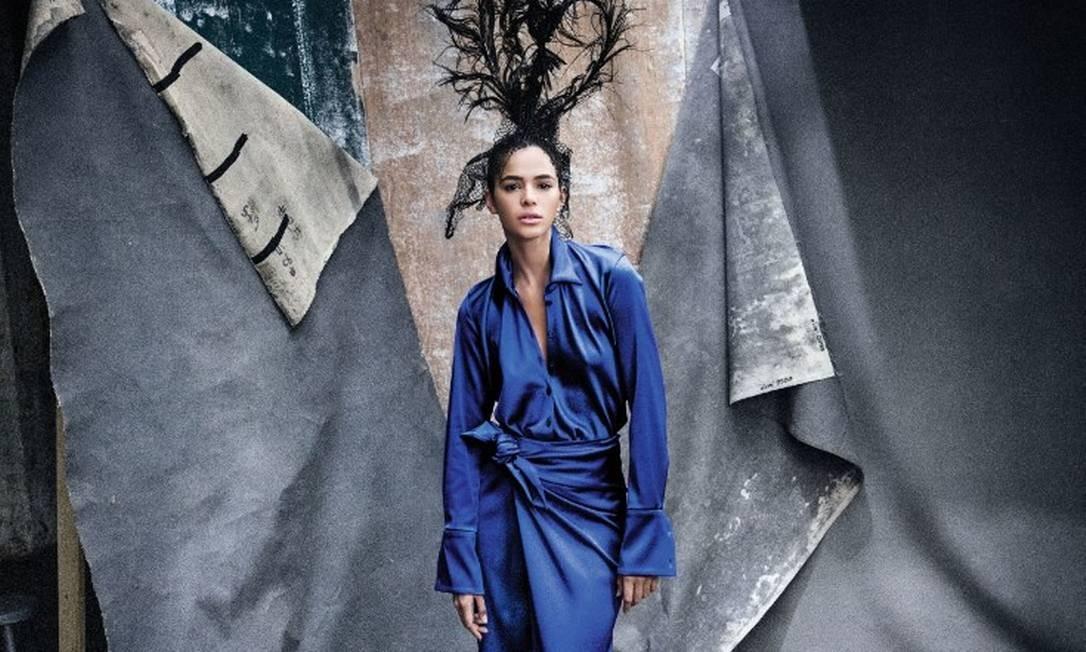 """Foto de Bruna Marquezine publicada do site da """"Vogue"""" americana Foto: Reprodução/Vogue.com"""