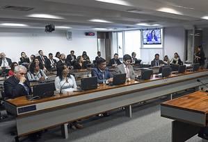 Sessão de instalação da CPI de Brumadinho no Senado Foto: Senado/Divulgação