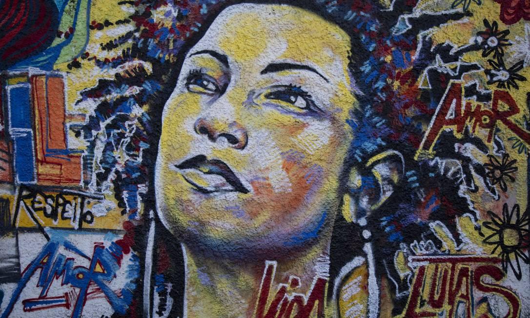 RI - Rio de Janeiro. (RJ) - 11/03/2019 -Grafite em homenagem a vereadora assassinada Marielle Franco na Rua João Paulo I, no bairro do Estácio. Foto: Gabriel Monteiro / Agência O Globo Foto: GABRIEL MONTEIRO / Agência O Globo