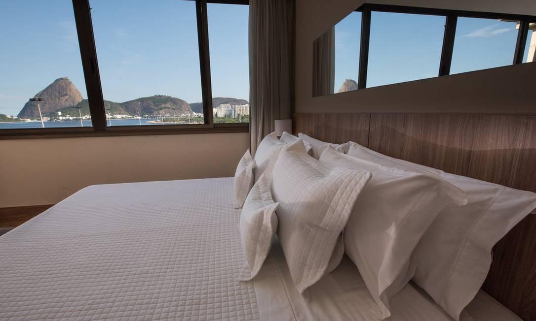 Vista da suíte executiva do hotel tem vista para o Pão de Açúcar Foto: Reprodução / Site do hotel