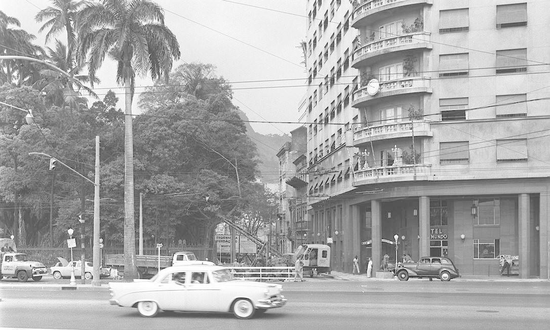 O hotel em foto dos anos 1960 Foto: Agência O Globo em 12/02/1965