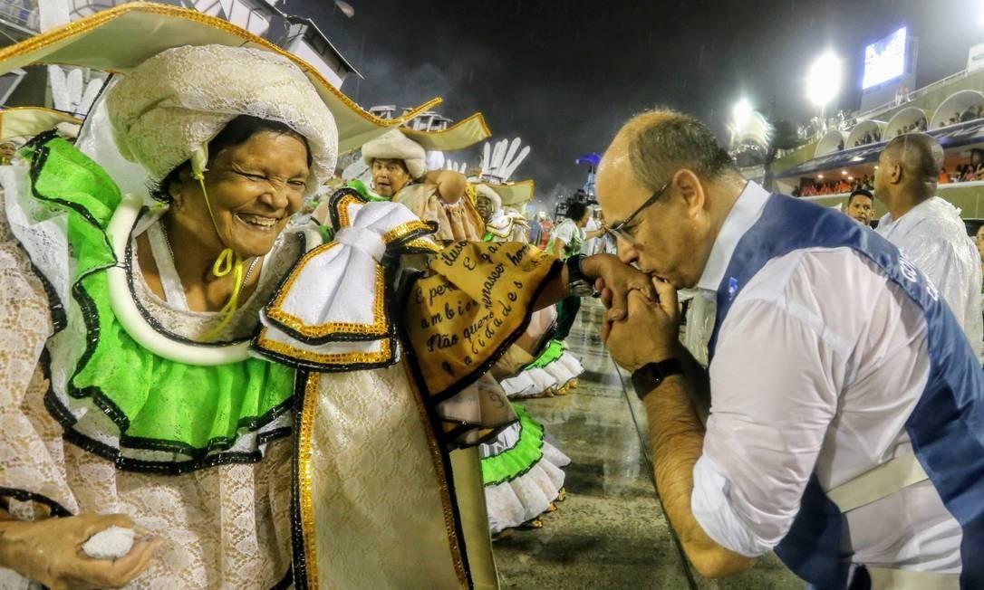 Na 1ª noite de desfile das escolas de samba do Grupo de Acesso, em 01 de fevereiro de 2019 Foto: Carlos Magno / Agência O Globo