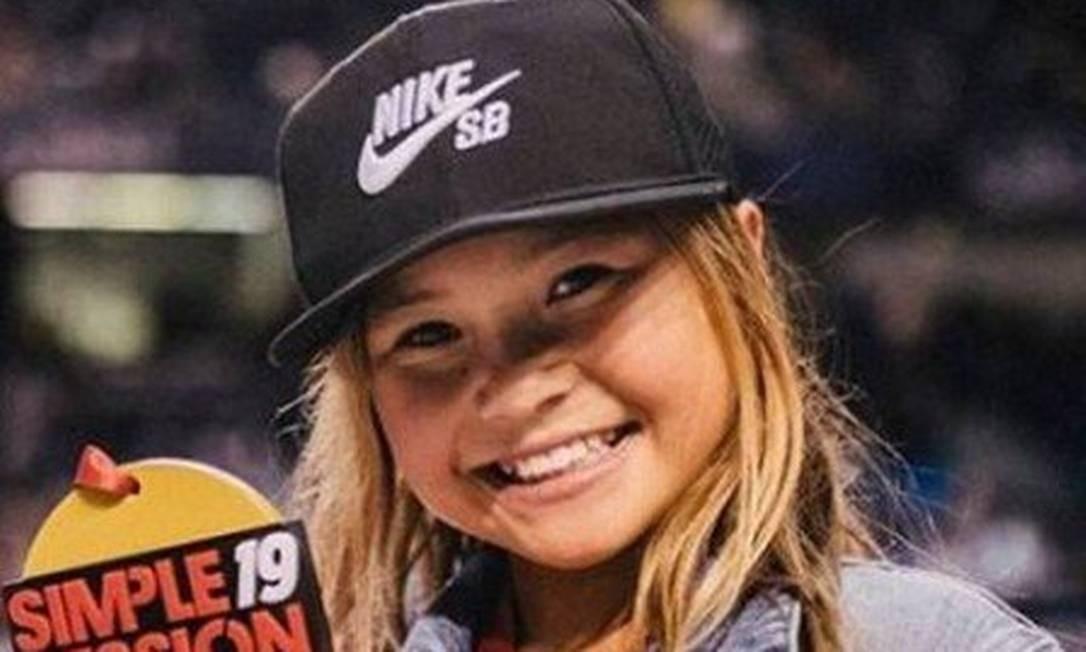 A skatista Sky Brown, de 10 anos, deve representar a Grã-Bretanha em Tóquio-2020 Foto: Reprodução/Instagram