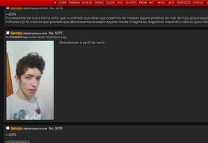 Guilherme Taucci Monteiro foi chamado de herói no fórum Dogolachan Foto: Reprodução