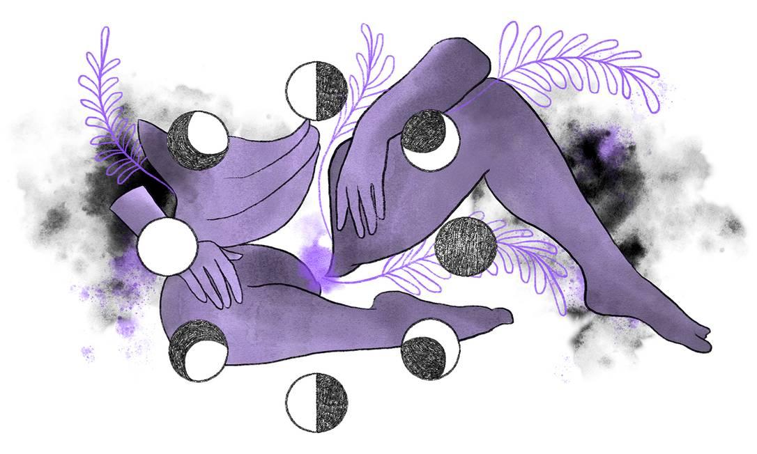Ciclo menstrual foi impactado pela pandemia Foto: Ilustração Lari Arantes