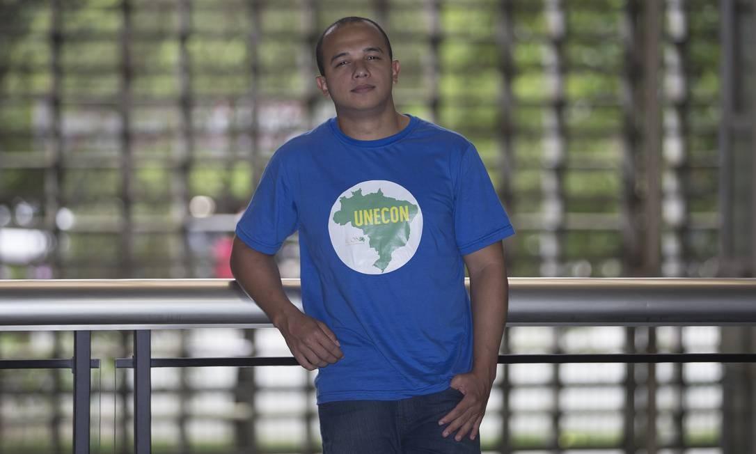Deputado estadual Douglas Garcia ( PSL ) é um dos organizadores do primeiro encontro da União Nacional dos Estudantes Conservadores (UNECON) Foto: Edilson Dantas / Agência O Globo