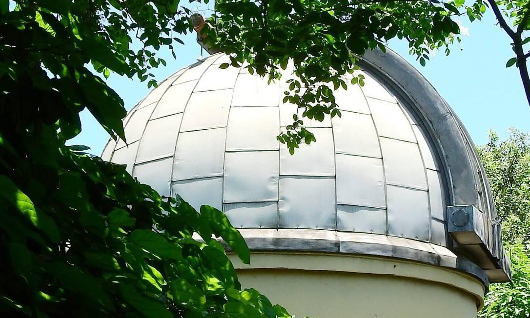 Cúpula do Observatório do Valongo: local abriga cursos de Astronomia da UFRJ Foto: Reprodução Facebook