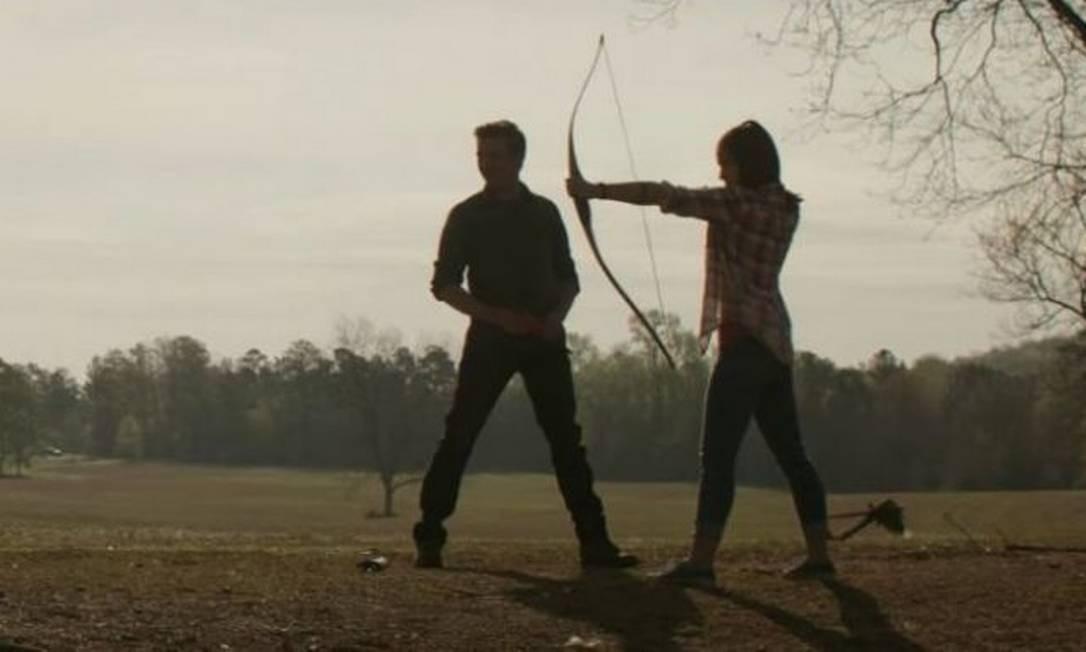 O Gavião Arqueiro e, quem sabe, Kate Bishop, em 'Vingadores:Ultimato' Foto: Reprodução
