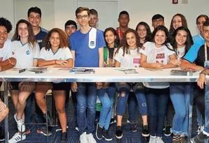 Jovens se reuniram na sede do Jornal O Globo Foto: Fabio Guimarães
