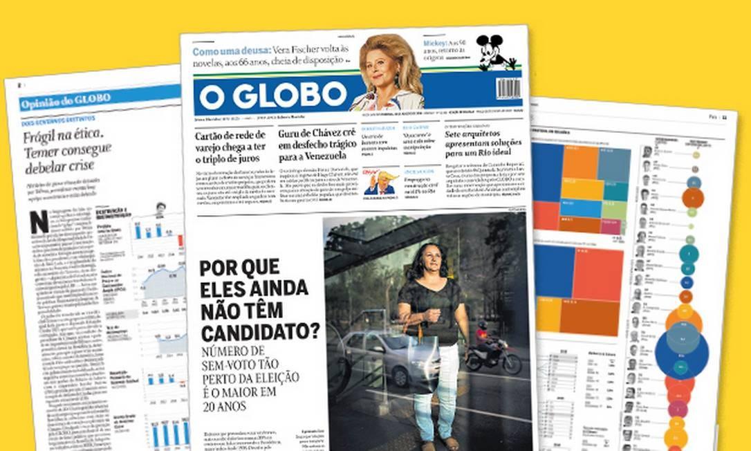 O GLOBO recebe prêmio por redesenho gráfico Foto: Editoria de Arte