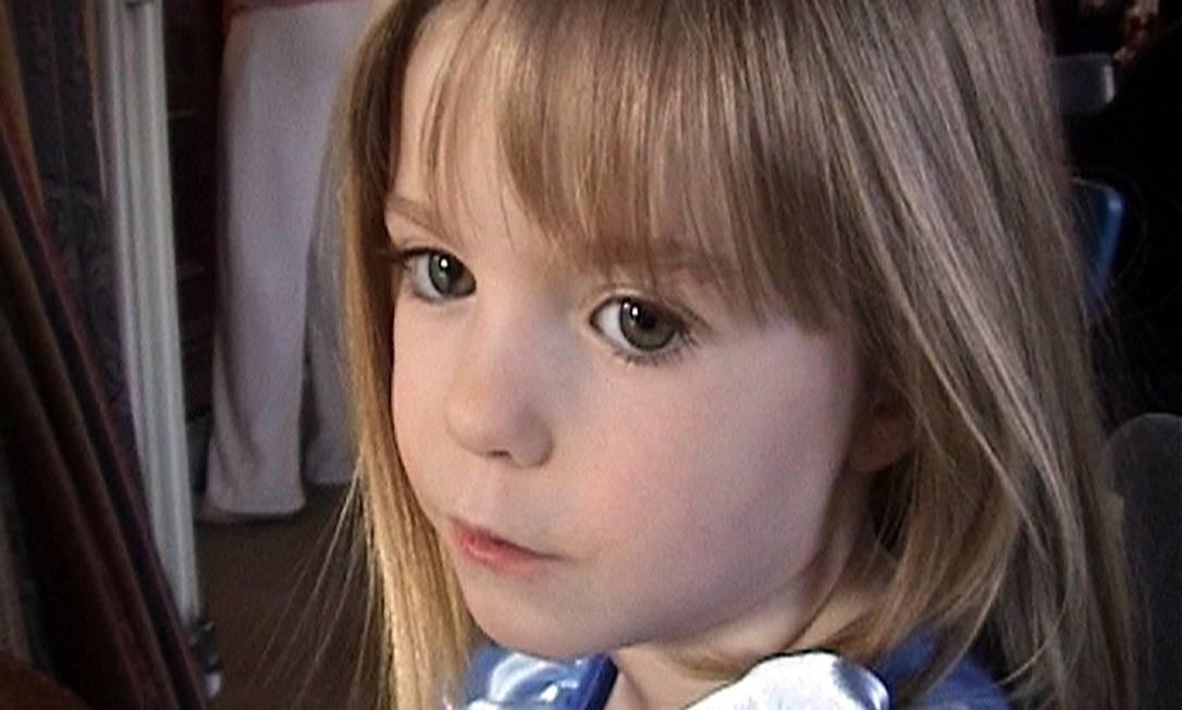 A menina britânica Madeleine McCann quando tinha três anos, em 2007, ano em que desapareceu em Portugal Foto: AP Photo/McCann Family