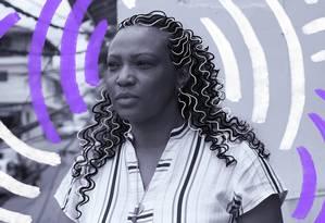 Eliane Dias é reconhecida pela trajetória profissional e pela militância contrapreconceito, abuso e feminicídio Foto: Arte da Lari Arantes sobre foto de Edílson Dantas