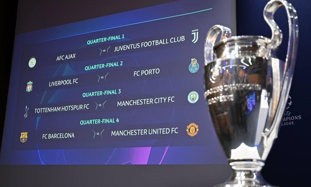 Último sorteio da Champions foi nesta sexta-feira Foto: FABRICE COFFRINI / AFP