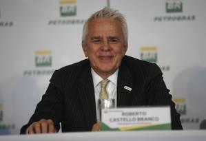 O presidente da Petrobras, Roberto Castello Branco Foto: MAURO PIMENTEL / Agência O Globo