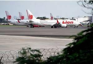 Boeing 737 Max da Lion Air: acidente em outubro passado causou a morte de 189 pessoas Foto: Bloomberg