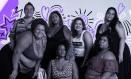 Integrantes do Slam das Minas, que se apresentam após o debate sobre gordofobia no Parque Lage Foto: Arte de Lari Arantes sobre foto de Gabriel Monteiro