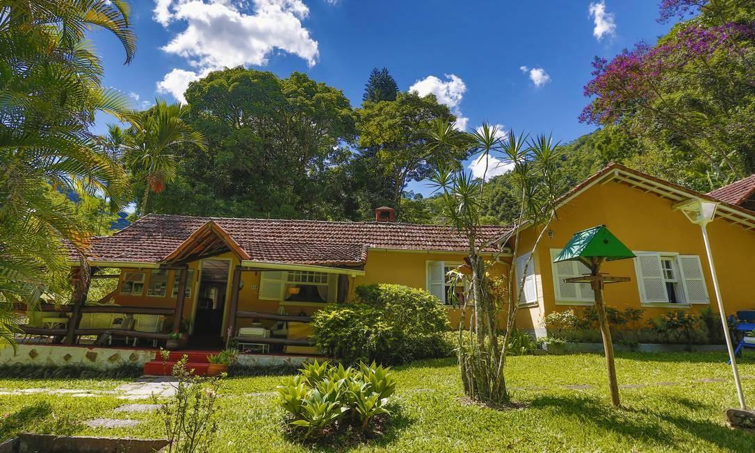 A varanda da casa La Grand Vallée, onde começa a visita Foto: Marcelo de Jesus / Agência O Globo