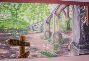 Pinturas mostram paisagens do Parque da Pedra Branca Foto: Divulgação / Foto