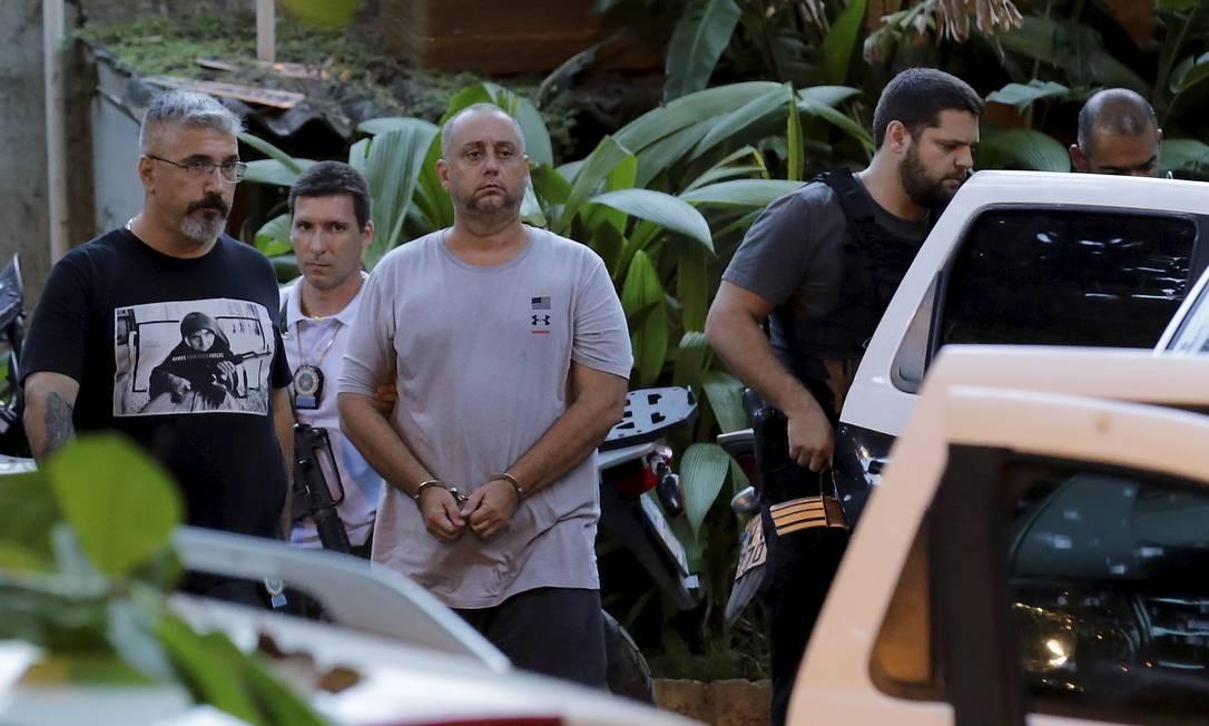 Após depoimento, Élcio Queiroz (foto) e Lessa foram levados para o IML; de lá,partirão para Bangu 1, onde ficam até definição sobre qual presídio de federal eles serão levados fora do estado Foto: MARCELO THEOBALD / Agência O Globo