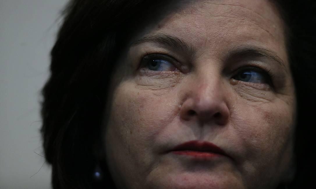 A procuradora-geral da República, Raquel Dodge, durante seminário no CNJ Foto: Jorge William/Agência O Globo/25-02-2019
