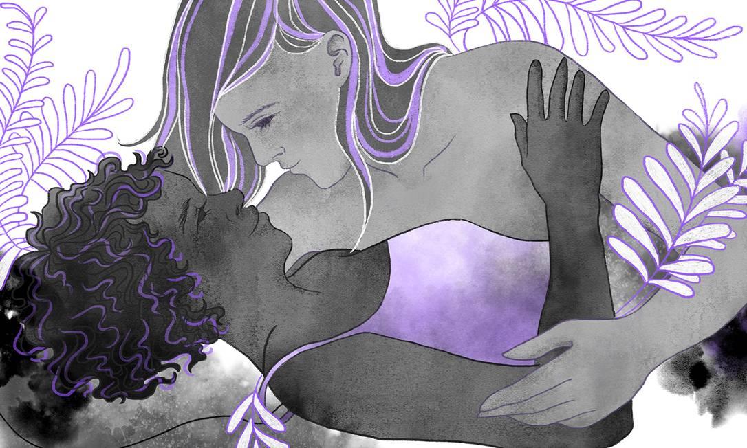 Mulheres lésbicas e bissexuais que se relacionam apenas com mulheres muitas vezes encontram soluções paliativas para sua proteção e atendimento médico pautado pela heterossexualidade Foto: Arte de Lari Arantes