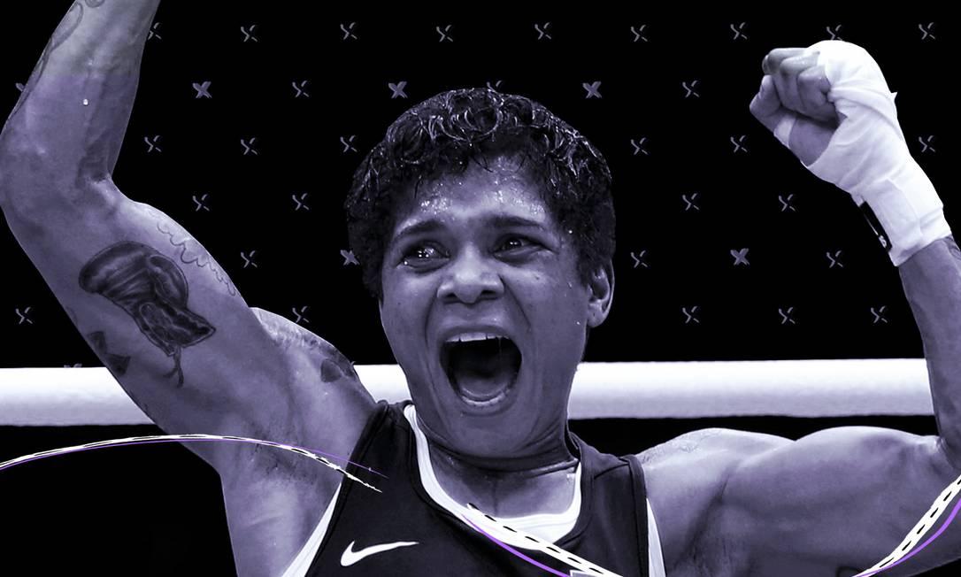 A boxeadora Adriana Araújo, bronze em Londres-2012, na primeira edição feminina do esporte Foto: Arte