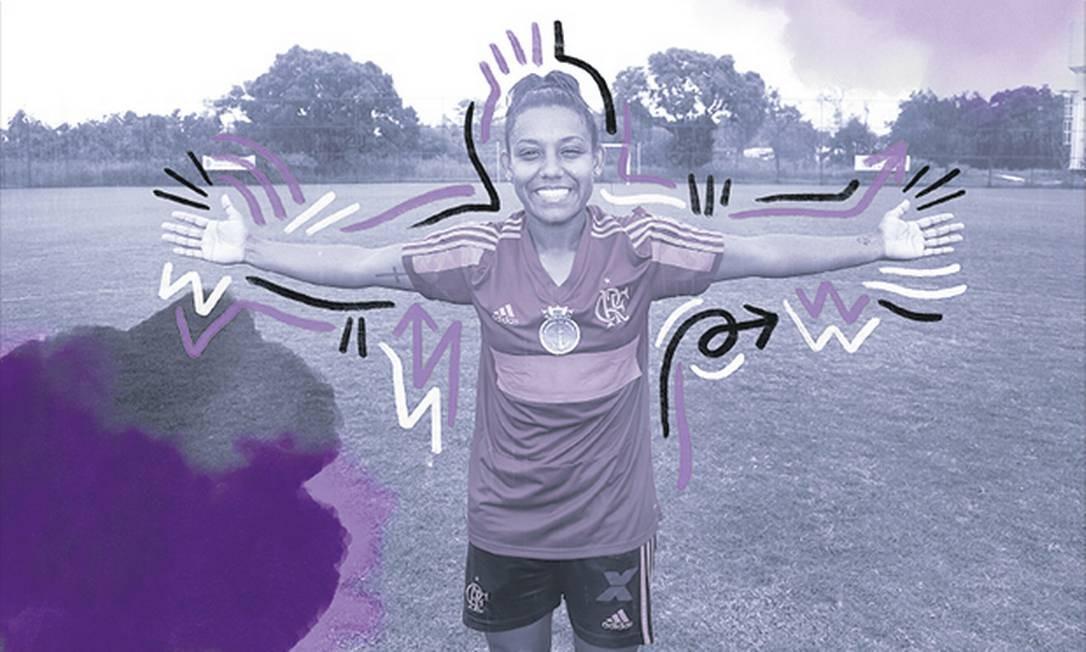 Juliana, meio-campo do Flamengo Foto: Marcos Ramos
