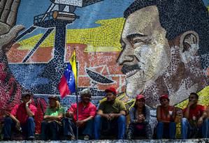 """Com o passar dos anos, muitos """"chavistas de Chávez"""" abandonaram Maduro, entrando para a dissidência chavista, opositora Foto: RONALDO SCHEMIDT / AFP"""