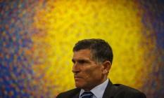 O ministro da Secretaria Geral de Governo, Santos Cruz, durante entrevista exclusiva Foto: Daniel Marenco/Agência O Globo/08-01-2019