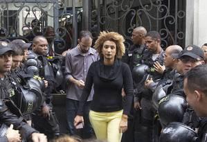 Enquanto vereadora se deslocava para compromissos, um suspeito pesquisava seus locais de destino Foto: Bárbara Dias / Zimel Press / Agência O Globo
