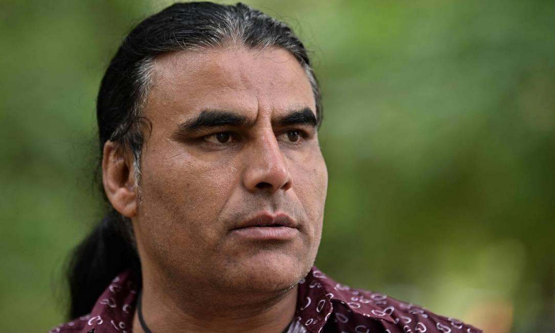 Abdul Aziz, de 48 anos, salvou fiéis no massacre de Christchurch ao correr atrás de atirador extremista Foto: ANTHONY WALLACE / AFP