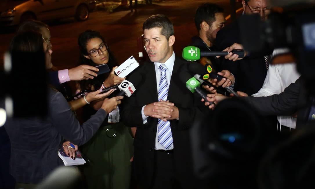 O líder do PSL na Câmara, Delegado Waldir, durante entrevista Foto: Cleia Viana/Câmara dos Deputados/11-03-2019