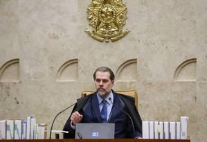 Dias Toffoli é alvo de críticas de policial civil em redes sociais Foto: Ailton de Freitas / Agência O Globo